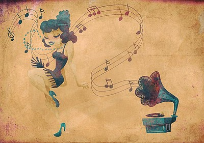 Promotional graphic of a swing dancer. Courtesy of SDSD.