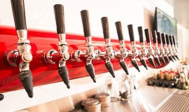 Photo of beer taps at the Red Cafe.