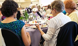 Guests at the annual English Tea fundraiser. Courtesy of Community Resource C...