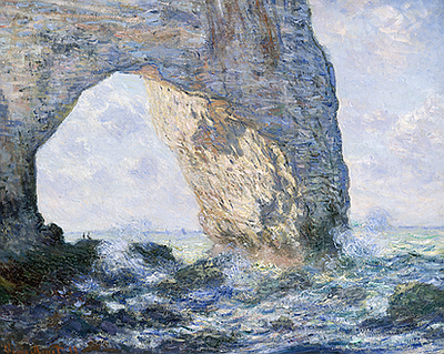 A photo of Claude Monet's painting titled The Manneporte, courtesy of Timken.