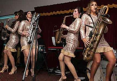 Promotional photo of The Saxations. Courtesy of The Saxat...