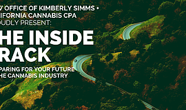Promotional graphic for The Inside Track: Prepare For Your Future In Cannabis.