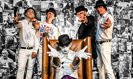 Promotional photo of The Adicts.