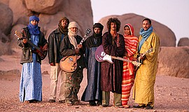 A promotional photo of the African group Tinariwen.