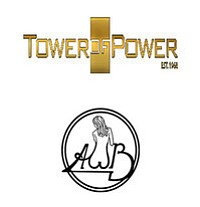Promotional graphics for Tower of Power and Average White...