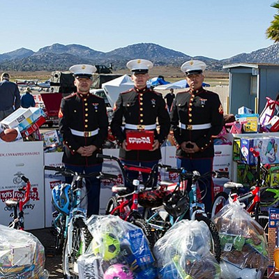 Promotional photo from previos Toys For Tots event. Courtesy of Ramona & Fallbrook Airports Toys for Tots.