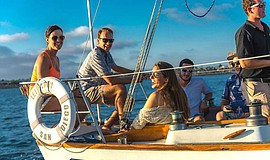 Promotional photo for San Diego Sailing Tours.