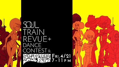Promotional flier for the Soul Train Revue Dance Contest. Courtesy of Lafayette Hotel, Swim Club & Bungalows.