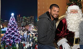 Promotional photo for tree lighting event. Courtesy of Little Italy.