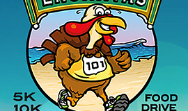 Promotional graphic for the turkey trot. Courtesy of the Encinitas Turkey Tro...