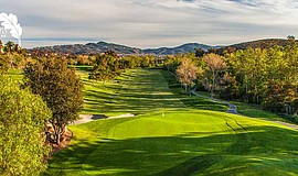 Promotional photo of the Twin Oaks golf course.