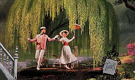 "Dick Van Dyke and Julie Andrews in ""Mary Poppins"" (1964)."