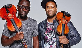 Photo of the featured performers. Courtesy of Black Violin.