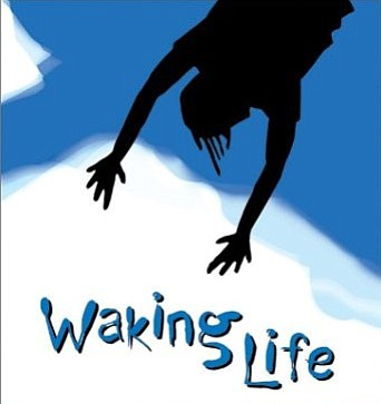 "Cropped version of the ""Waking Life"" movie poster."