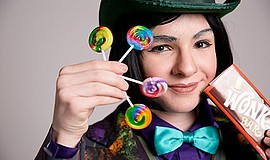 "A promotional photo for J*Company's ""Willy Wonka Jr."""