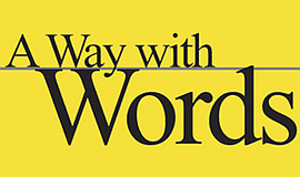 A promotional poster for A Way with Words radio show.
