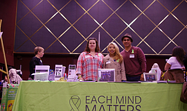 Photo of a booth at the The Women and Families Resource Fair.