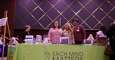 Photo of a booth at the The Women and Families Resource F...