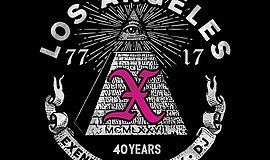 A promotional poster for the X 40th anniversary tour, courtesy of The Belly Up.