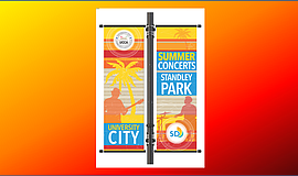 Promotional graphic for the University City Standley Park 2017 Summer Concert...