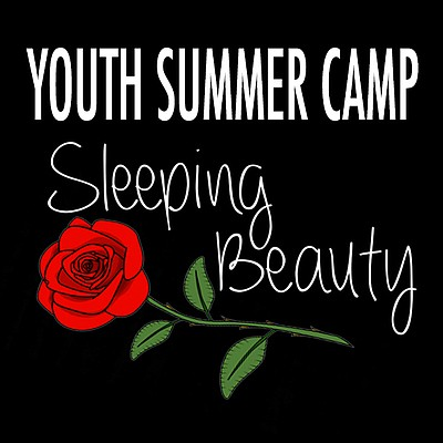 Promotional graphic for OB Playhouse's Sleeping Beauty Summer Camp.