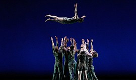 A photo of the Bill T. Jones/Arnie Zane Dance Company.