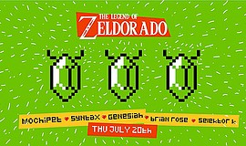 Promotional flyer for The Legend of Zeldorado event. Courtesy of PB&J Present...