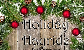Promotional graphic for the Holiday Hayride. Courtesy of ...