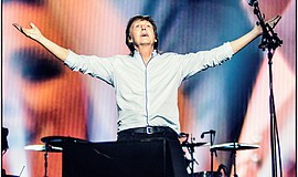 Paul on stage in Fresno at the start of his new 'One On O...