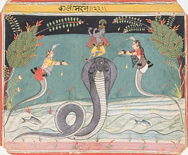 A painting from Epic Tales From Ancient India, courtesy o...