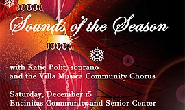 "Promotional graphic for ""Sounds of the Season."" Courtesy ..."
