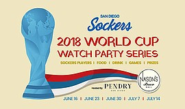 Promo graphic for Sockers World Cup Viewing Party At Na...
