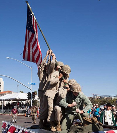 Photo from a previous parade. Courtesy of San Diego Veter...
