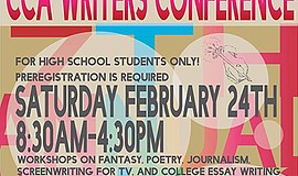 Promo graphic for CCA's Seventh Annual Writers' Confere...