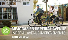 Promo graphic for Imperial Avenue Bikeway Community Mee...