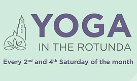 Promo graphic for Yoga In The Rotunda