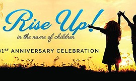 "Promotional graphic for the ""Rise Up in the Name of Child..."