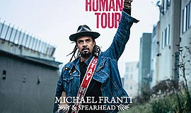 "Promotional graphic for the ""Stay Human Tour"" in San Dieg..."