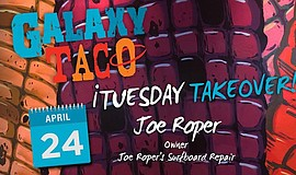 Promo graphic for Taco Tuesday Takeover With Joe Roper