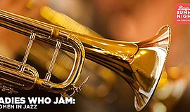 Promotional photo of a trumpet for the Women in Jazz conc...
