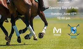 Promo graphic for 2018 Polo Season Opening Day