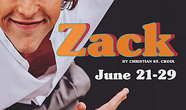 Promo graphic for 'Zack'