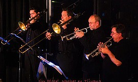 Photo of the Afrotruko horn section. Courtesy of Jim Platel.