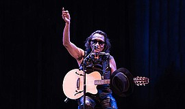 Photo of Rodriguez performing. Courtesy of Humphreys Conc...