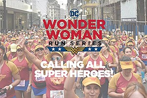 Promotional photo for the Wonder Woman Run. Courtesy of DC Comics.