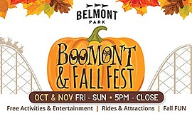 Promotional graphic for BOOmont Park & Fall Fest. Courtes...