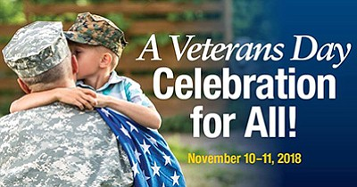 Promotional photo for the Veterans Day celebration. Court...
