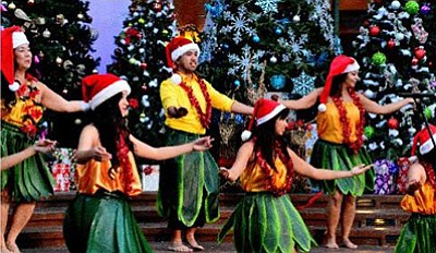 Photo of the hula dancers from last year's Winter Wonderl...