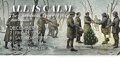 """Promotional poster for """"All Is Calm: The Christmas Truce ..."""