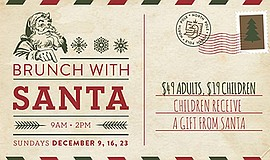 Promotional graphic for Brunch with Santa. Courtesy of La...